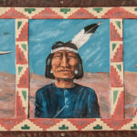 Four Paintings on Canvas Depicting American Indians, c. 1920s (Lot 2128, Estimate $400-600)