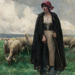 Julien Dupré (French, 1851-1910)  Shepherdess in a Landscape (Lot 230, Estimate $12,000-18,000)