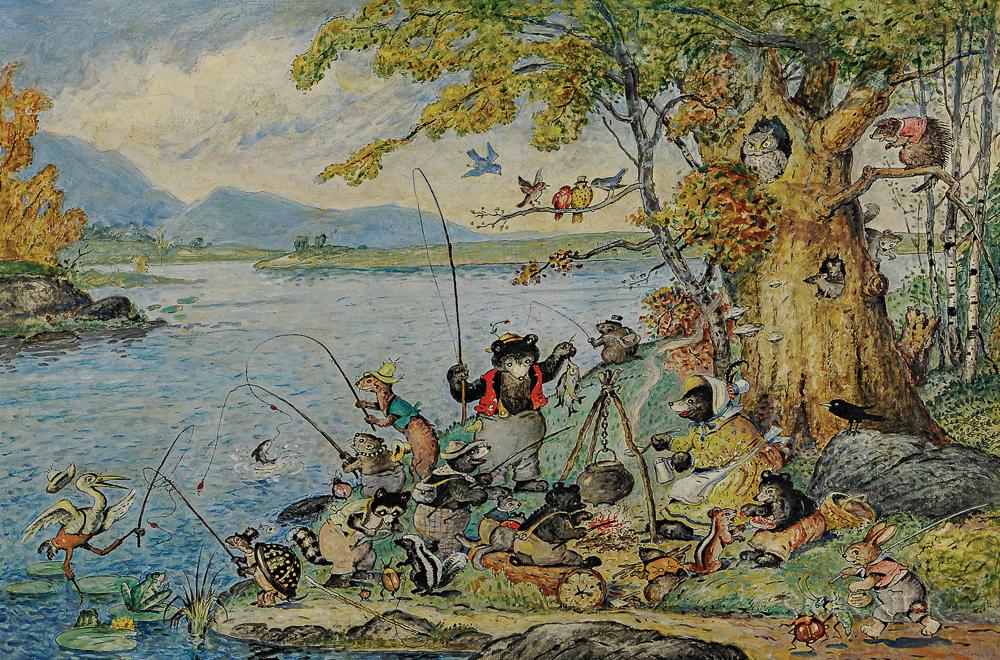 Walter Harrison Cady (American, 1877-1970)  Gone Fishing (Lot 279, Estimate $20,000-25,000)