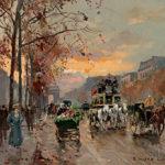 Edouard Léon Cortès (French, 1882-1969)  L'Avenue des Champs-Élysées au Crepescule (Lot 331, Estimate $15,000-25,000)