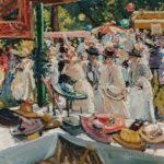Eben Farrington Comins (American, 1875-1949)  Hat Booth (Lot 365, Estimate $15,000-20,000)
