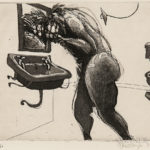 William Kentridge (South African, b. 1955)  Plate  from the Series Domestic Scenes, 1980, edition of 30 (Lot 63, Estimate $1,800-2,200)