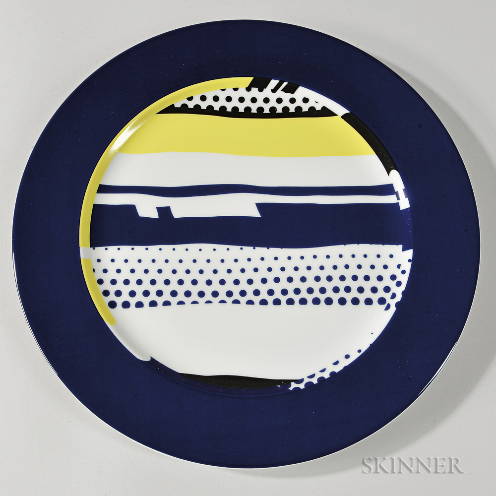 Roy Lichtenstein (American, 1923-1997)  Set of Six Plates, c. 1990, edition of 3,000 (Lot 69, Estimate $2,000-3,000)