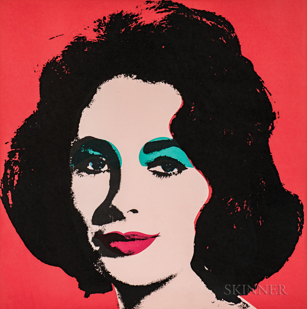 Andy Warhol (American, 1928-1987)  Liz, 1964, edition of about 300 (Lot 88, Estimate $25,000-35,000)