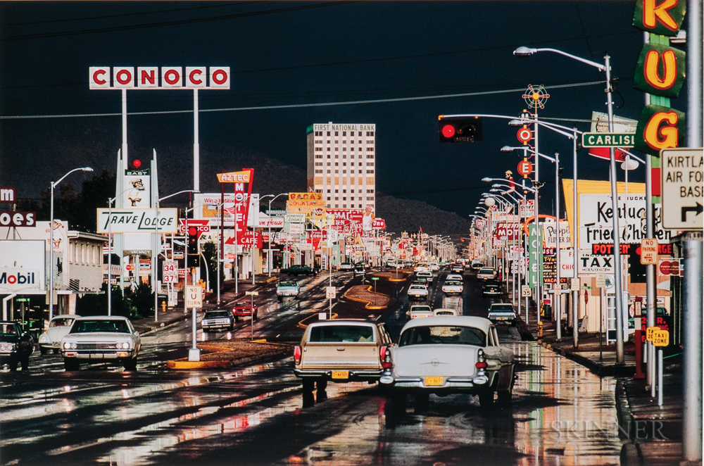 Ernst Haas (Austrian/American, 1921-1986)  Route 66, Albuquerque, New Mexico, 1969, printed 2017 (Lot 119, Estimate $3,000-5,000)