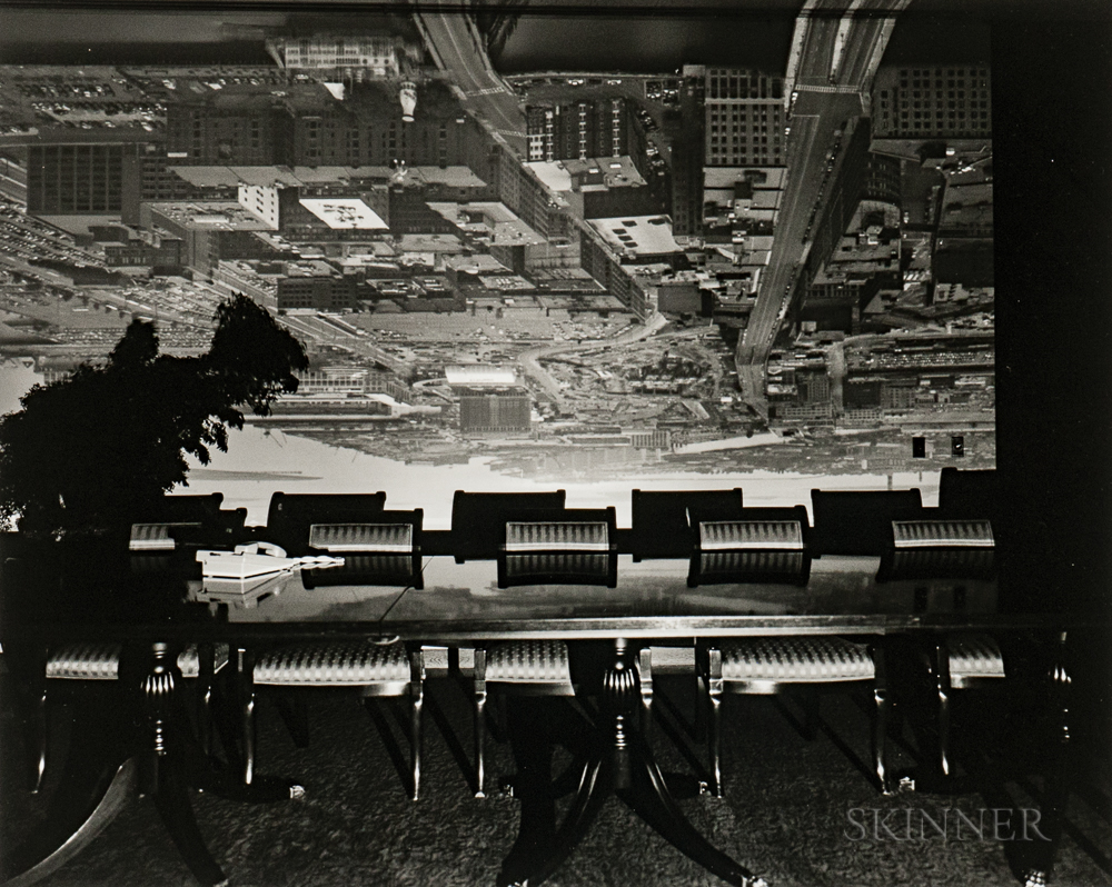 Abelardo Morell (Cuban/American, b. 1948)  Camera Obscura Image of Boston View Looking Southeast in Conference Room, 1998 (Lot 135, Estimate $3,000-5,000)