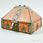 Small Indian Paint-decorated and Brass-bound Box [Lot 1191]