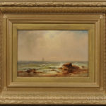 Charles Henry Gifford (Massachusetts, 1839-1904)  Rocky Beach and Sailing Vessels (Lot 130, Estimate $4,000-6,000)