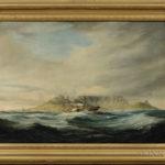 Thomas John Baines (British, 1822-1875)  The Pottinger, Magellanes, & Nostra Senora Della Carmine Returning to Table Bay After a Gale, The Israel on Shore. (Lot 219, Estimate $15,000-25,000)