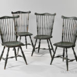 Set of Four Green-painted Windsor Fan-back Side Chairs, possibly Rhode Island, late 18th century (Lot 276, Estimate $2,000-4.000)