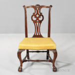 Carved Mahogany Side Chair, Boston, Massachusetts, c. 1760-80 (Lot 289, Estimate