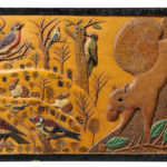 Relief-carved, Incised, and Polychrome Decorated Panel, possibly upstate New York, c. 1900-10 (Lot 308, Estimate $4,000-6,000)