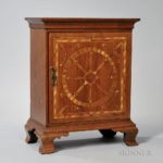 Inlaid Walnut Spice Cabinet, Chester County, Pennsylvania, c. 1765-80 (Lot 500, Estimate $15,000-25,000)