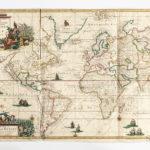 World Map by Gerard van Keulen (1678-1726) Nieuwe Wassende Graaden. Amsterdam, 1720 (Lot 654 est. $4,000-6,000)