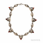 .830 Silver and Amber Necklace, Georg Jensen (Lot 1, Estimate $1,000-1,500)