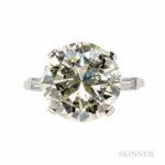 Platinum and Diamond Solitaire (Lot 320, Estimate $35,000-55,000)