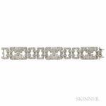 Art Deco Platinum and Diamond Bracelet (Lot 373, Estimate $6,000-8,000)