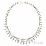 Antique Diamond Necklace, c. 1890s (Lot 380, Estimate $5,000-7,000)