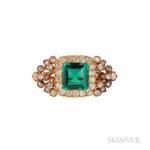Antique Emerald and Diamond Brooch (Lot 384, Estimate $7,000-9,000)