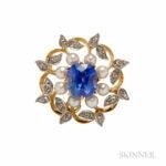 Antique Sapphire Pendant/Brooch (Lot 366, Estimate $25,000-35,000)