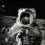 Alan Bean with the reflection of the photographer in his visor, EVA 2, Apollo 12, November 1969 (Estimate $700-900)