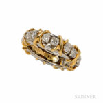 Sixteen-stone Diamond Band, Schlumberger Studios, Tiffany & Co. (Lot 1002, Estimate $1,500-2,000)