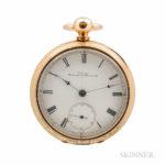 Illinois Springfield Watch Company No. 1 Open-face Watch, Springfield, Illinois, 1871 (Lot 91, Estimate $10,000-20,000)