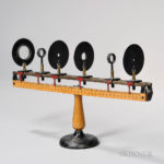 Unmarked Cast Iron and Brass Optical Bench (Lot 355, Estimate $500-700)