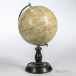 Philips' 8-inch Terrestrial Globe, George Philip & Son, 32 Fleet Street, London (Lot 417, Estimate $150-250)
