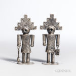 Navajo Silver Salt & Pepper Shakers
