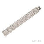 Art Deco Diamond Strap Bracelet, Estimate: 8,000-10,000