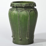 Grueby Pottery Vase, (Lot 6, Estimate: $8,000-10,000