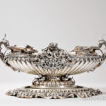 Italian .800 Silver Center Bowl and Stand