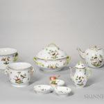 Herend Porcelain Rothschild Bird Pattern Service