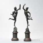 Grand Tour Bronze Figures of Mercury and Fortuna