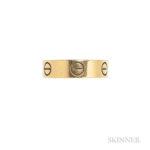 18kt Gold Love Ring, Cartier, Estimate: $400-600