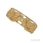 18kt Gold Cuff Bracelet, Estimate: $700-900