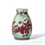 Early Daum Cameo Glass Vase, (Lot 167, Estimate: $1,000-1,500)