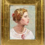 Portrait of a Young Woman (Lot 1084, Estimate: $400-600)