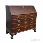 Chippendale Stained Maple Slant-lid Desk, (Lot 1412, Estimate: $600-800)