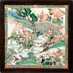 Square Famille Verte Plaque, China, Kangxi period style (Lot 426, Estimate: $5,000-7,000)