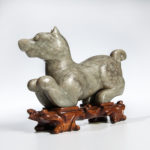 Jade Carving of a Dog, China, 18th century (Lot 246, Estimate: $8,000-10,000)