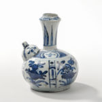 Blue and White Kendi, China, Transitional period (Lot 373, Estimate: $5,000-7,000)