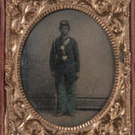 Framed Daguerreotype Depicting an African American Soldier (Lot 119)