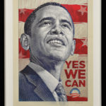 "2008 Barack Obama Presidential Campaign ""Yes We Can"" Poster (Lot 300)"
