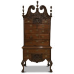 Bench-made Philadelphia Chippendale-style Carved Mahogany High Chest (Lot 191, Estimate: $3,000-5,000)