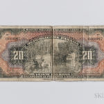 1941 Panamanian Banco Central de Emision 20 Balboas Arias Seven Day Issue, Pick-25a, PMG Very Fine 20 (Lot 1559, Estimate: $8,000-10,000)