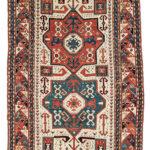 Kazak Rug, Southern Caucasus, c. 1870 (Lot 109, Estimate: $2,000-2,500)