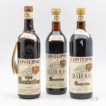 Giacomo Conterno Monfortino, 3 bottles (Lot 76, Estimate: $2,500-3,250)