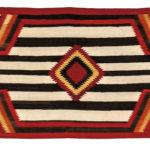 Navajo Man's Wearing Blanket, last quarter 19th century (Lot 97, Estimate: $300-500)